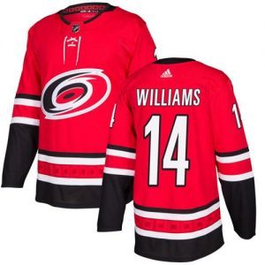 9942dcc7b Adidas Hurricanes  14 Justin Williams Red Home Authentic Stitched NHL Jersey