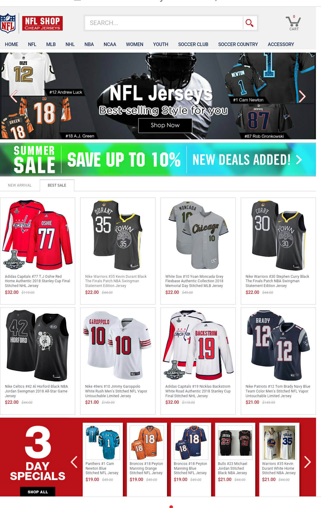 Cheap Jerseys Online Store